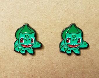 Balbasaur Pokemon Stud Earrings