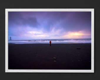 Black Sand Beach in Iceland Printable Artwork Photography