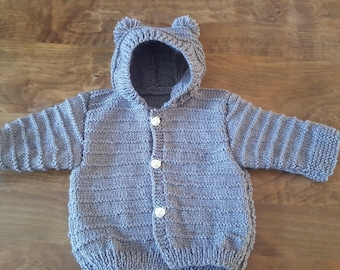 Baby hooded baby jacket size 3 months