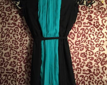 Paperdoll Black and Teal Dress