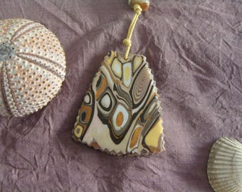 Safari colors sand, ochre, yellow pendant