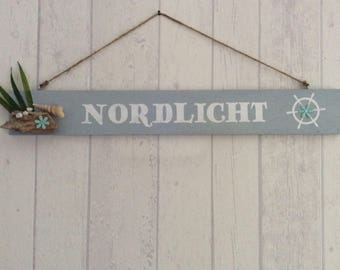 """Decorative wooden sign """"Northern lights"""""""