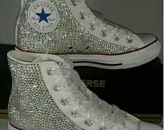 Hand Customized Blinged Out Converse