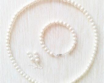 White Pearl beads set