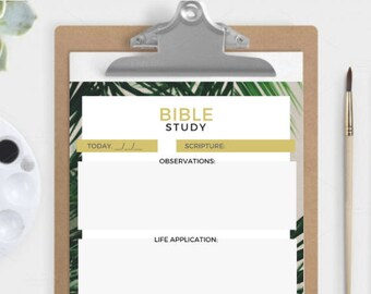 Bible Study Planner! Instant Download A5