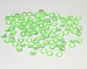 100 diamonds flash green plastic decorative table