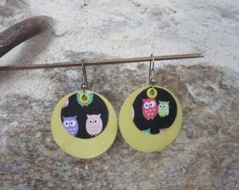 Genuine leather earrings