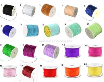 0.8mm - Choose Color - 1m or 10m Nylon Thread