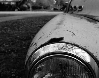 Old Car headlight photograph