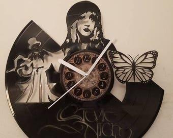 STEVIE NICKS vinyl record clock