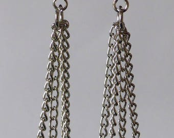 Earrings chains & beads natural blue Stud Earrings new