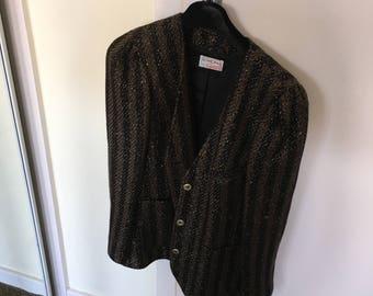 Black and gold vintage Schworm jacket