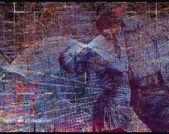 Collage painting / mount - Salsa Dance
