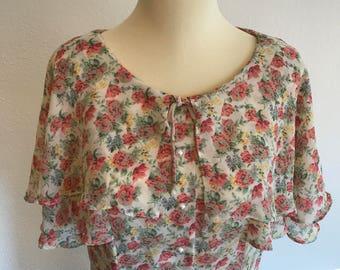 Vintage 90's Floral Boho Dress - First Focus