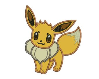 Eevee Applique Design - 4 SIZES