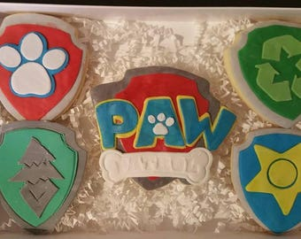 Paw patrol cookies,birthday cookies, Paw patrol sugar cookies ,