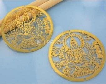 Prints 2 round - gold - Diam 40 mm # A58