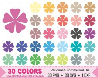 Flower Clipart, Spring Planner SVG Silhouette Cricut Cut File Commercial Use (Png Svg Dxf)