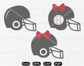 Helmet Svg, Bow svg, Football Helmet Clipart, Monogram Frame cricut, cameo, silhouette cut files commercial & personal use