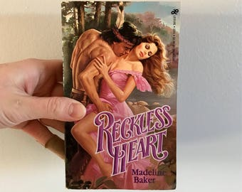 1985 vintage copy of My Reckless Heart // romance novel // vintage book // Valentine's Day // galentines day