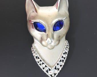 Vintage signed AJC Cat Brooch
