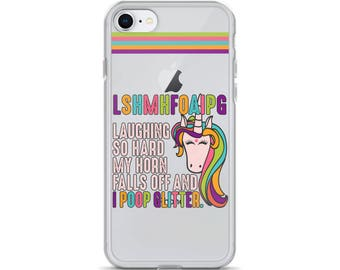 Phone Case / iPhone Case / Funny iPhone Case / Unicorn I Poop Glitter / iPhone X / iPhone 8 / iPhone 7 / 8 Plus / 7 Plus / Christmas Gift