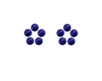 Lapis Lazuli Round Rose Cut Faceted Cabochons 3x3, 4x4, 5x5, 6x6 mm 100% Natural/Non-Heated/Non-Treated Gemstones For Designer Jewelry