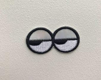 Rolling Eyes Holographic Patch