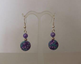 "Earrings ""violet"" new beads"