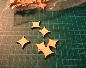 Average shape ba015 embellishment wooden creations