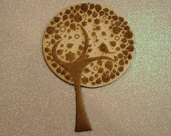 Tree 258 embellishment wooden creations