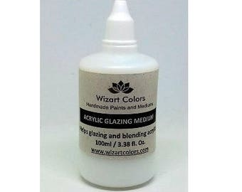 Wizart Colors Acrylic Glazing Medium for painting, Mix Media, Dacopage