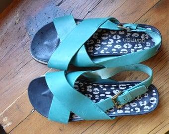 Teal Gorman Sandals