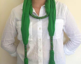 Maasai beaded scarf