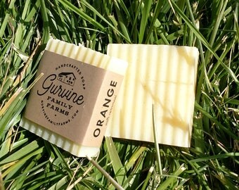 "Orange soap - ""Kitchen hand soap"" - hand crafted Coconut Oil Bar - 3 oz."