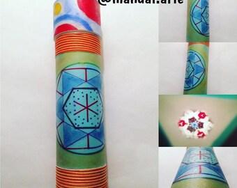 Handmade Kaleidoscope 20 cm, mandala