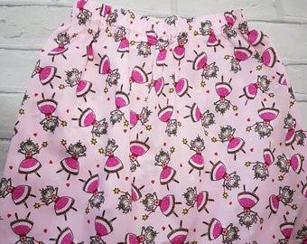 Pink fairy princess skirt and bow set