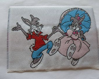 Applique, patch, patch 5046 - bunnies couple