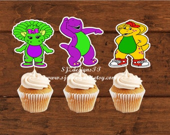 Barney and Friends Cupcake Toppers.