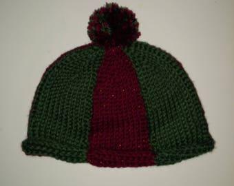 Child's Crocheted Winter Hat/Beanie/Skullcap/Stocking Cap