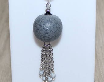 Granite effect necklace
