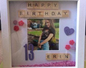 Personalised birthday frame
