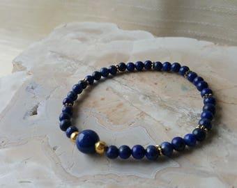 4mm Lapis Lazuli bracelet - Third eye chakra / Ajna