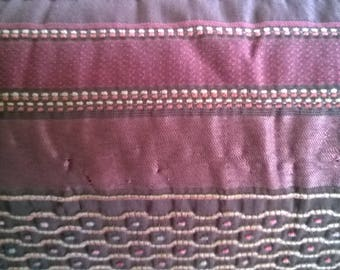 Embroidery in shades of Brown/Burgundy/orange 145 x 130 ethnic upholstery fabric