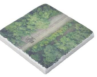 Train Tracks Stone Coaster