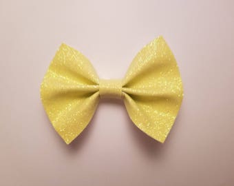 Sparkly Faux Leather Hair bow (multiple color options)