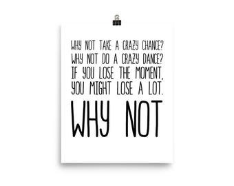 Why Not, Poster, Hilary Duff song lyrics, Lizzie McGuire Movie, 2000's quotes