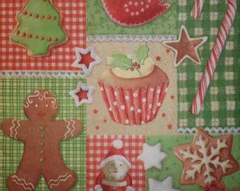 059 Christmas treats napkin