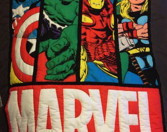 Marvel's Avenger Hand Quilted Lap Quilt