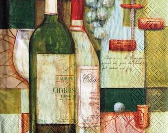 Wine corkscrew #AL083 and Chablis NAPKIN